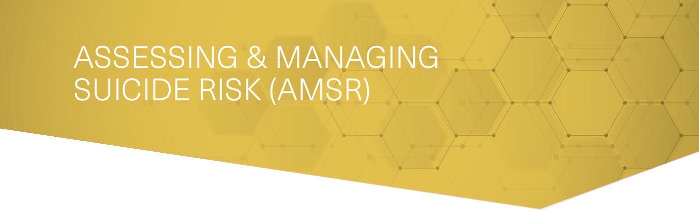 Assessing & Managing Suicide Risk (AMSR)
